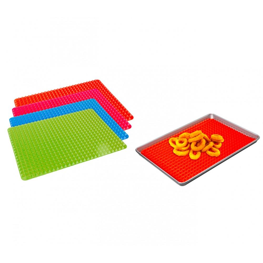 Tappeto da forno silicone con trama piramidale 878867 teglia scola grassi
