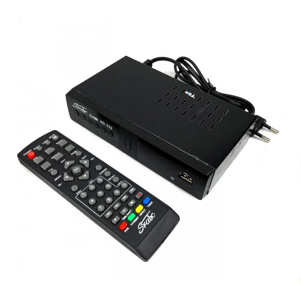 Decoder DVB T2 FULL HD HD332 SRABC sistema PVR uscita scart e HDMI USB MPEG-4