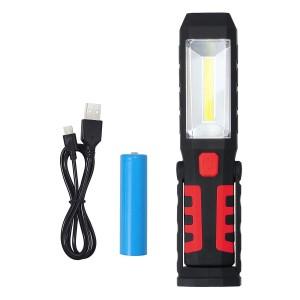 3w+1 Lampada ad alta luminosità di emergenza con gancio e magneti ricaricabile