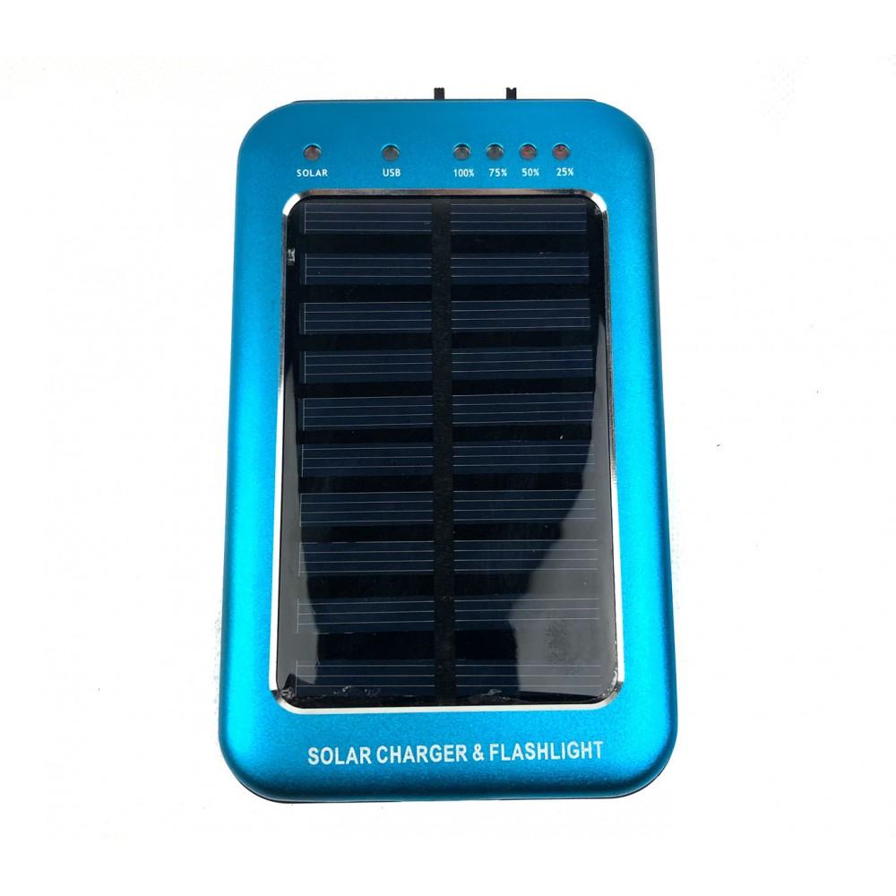 Powebank caricabatterie con ricarica solare e torcia led