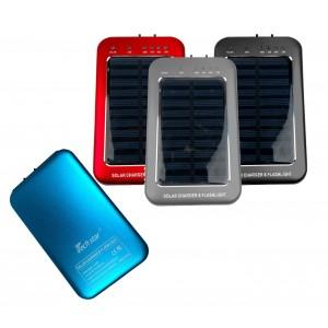 Powebank caricabatterie con ricarica solare e torcia led integrata 2600mAh