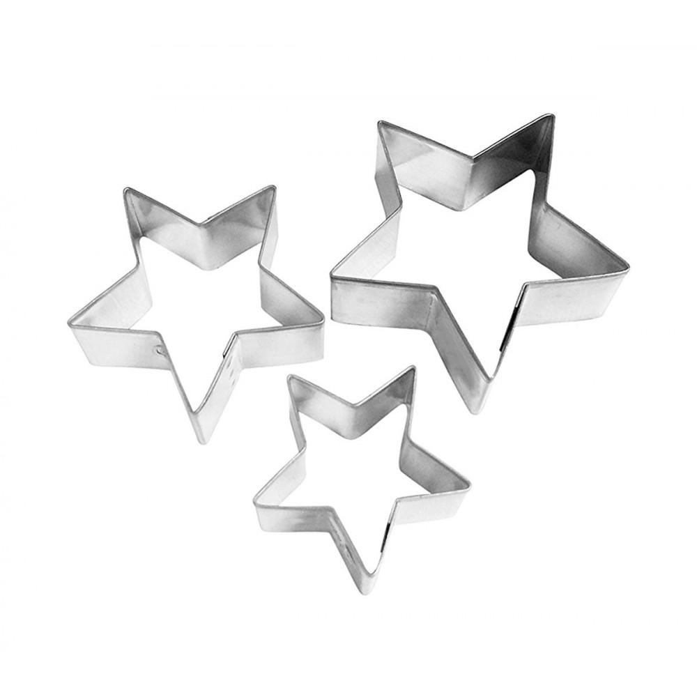 Set di 3 coppapasta a stella GRAN CHEF in acciaio 703345 altezza 2 cm