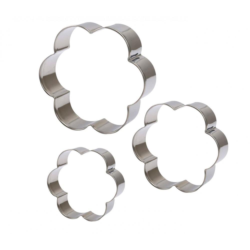 Set di 3 coppapasta FIORE 703345 GRAN CHEF in acciaio altezza 2cm