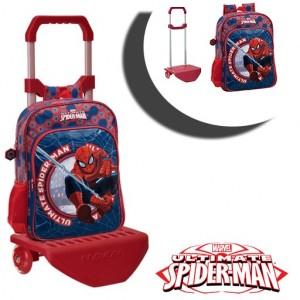 Image of 40823M1 Zaino scuola carrellino e ruote Spiderman trolley Marvel 30 x 40 x 16 cm 8010000300026
