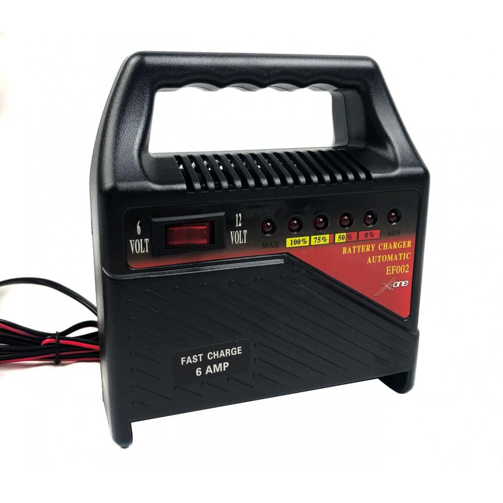 Xone Caricabatterie automatico a 2 modalità 6v 12v compatibile Piombo acido Gel