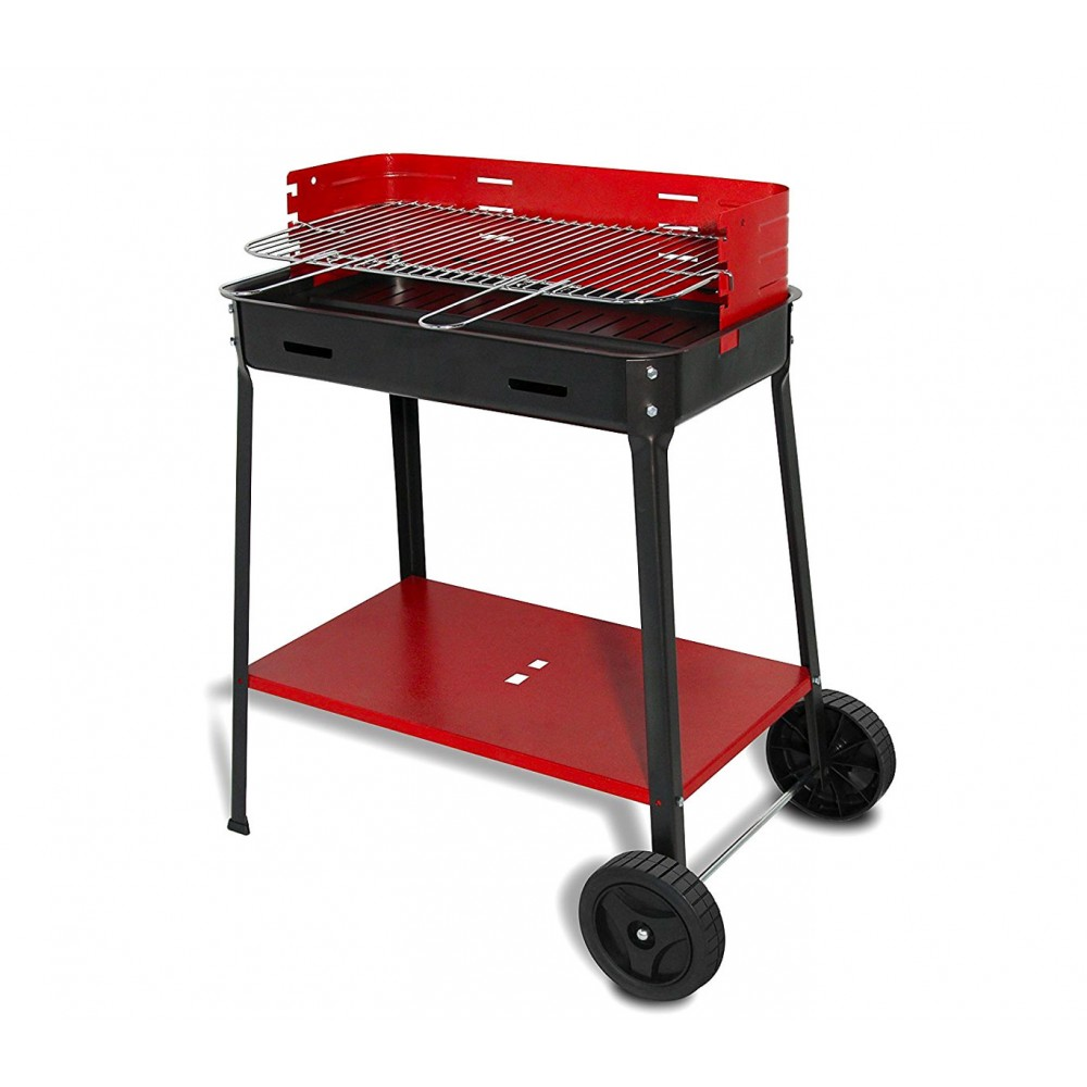 Barbecue FLAVIA a carbonella art. 503r ARTIGIAN FERRO 35x60x80h cm con ruote bbq
