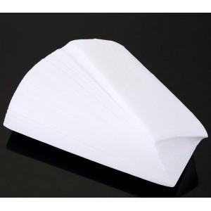 100 pezzi di Carta depilatoria a strisce per depilazione a cera 7x20cm