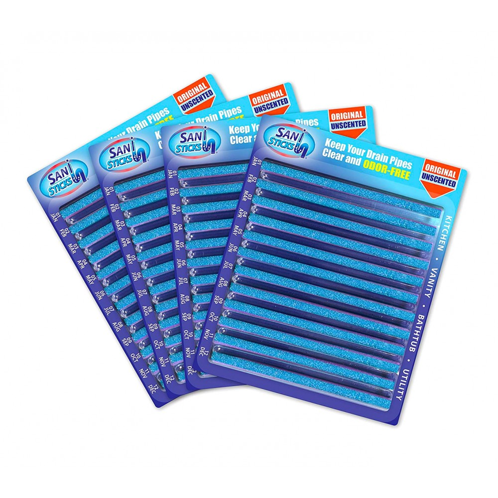 12 Sani Sticks 720031 detergenti universali con enzimi igienizzanti per tubature