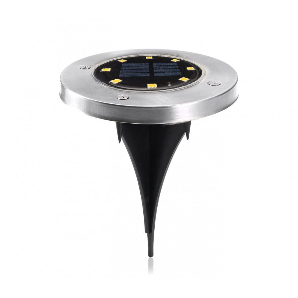 Faretto led ricaricabile energia solare 850895 impermeabile 6000k 0,4W DISK