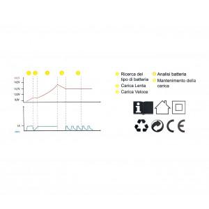 Xone Caricabatterie e mantenitore di carica automatico universale 6v e 12v