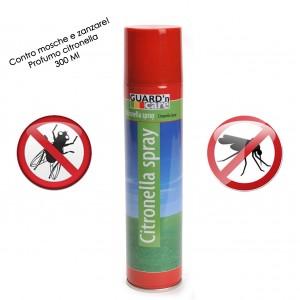 Spray insetticida alla citronella contro mosche e zanzare 300 ml