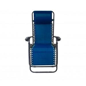 Sedia sdraio pieghevole EVERTOP 485330 totalmente reclinabile relax BLU