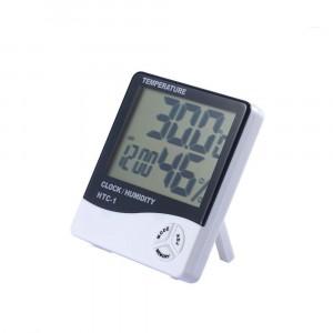 850871 Termometro igrometro con orologio e allarme con memoria min e max