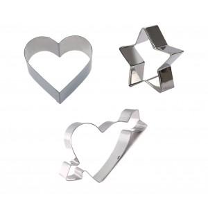 Set di 3 coppapasta assortiti GRAN CHEF in acciaio 702720 altezza 2 cm