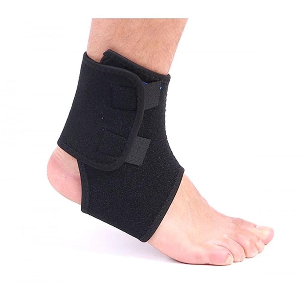 SBK 705 Supporto fascia in neoprene per caviglia doppia chiusura con velcro nera
