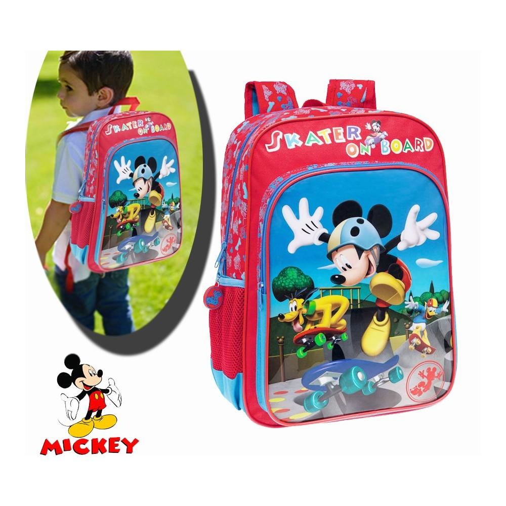 Zaino a spalla scuola e tempo libero Mickey Mouse Disney 30 x 40 x 16 cm