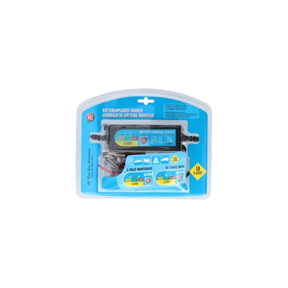 AllRide 487373 Caricabatterie e mantenitore di carica 6 12V 1A Gel e Piombo