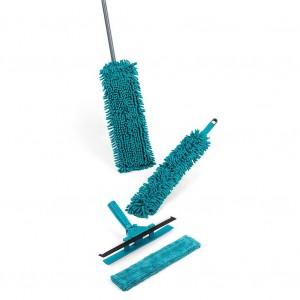 Alpina 127187 Set pulizia casa 7 pezzi intercambiabili ed estensibili microfibra