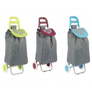 Carrello Shopping Trolley 40 Lt in Tela resistente 048963 con ruote 35X28X96 cm