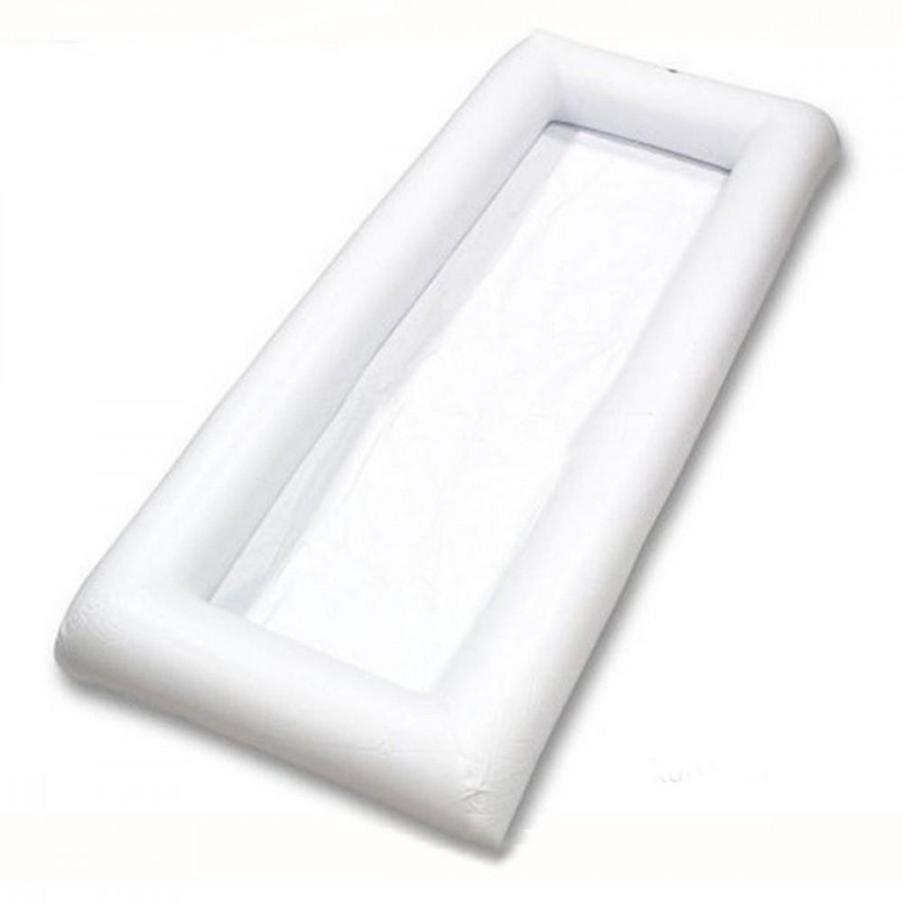 Cuscino gonfiabile 134x64cm in PVC per bibite e snack da piscina o pic nic