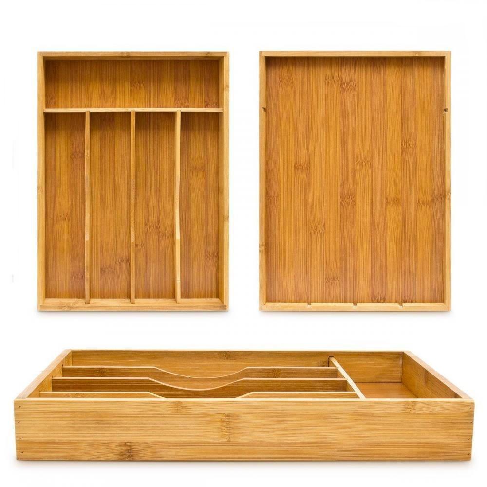 Box Portaposate 512983 in Bamboo 34x25x4cm 5 scompartimenti 100% ecologico