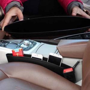 Kit da 2 PORTADOCUMENTI 999210 organizer auto per intercapedine sedili 37x11x6cm