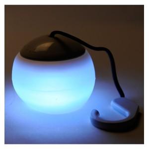 Lampada 4 led 519838 da campeggio e giardino con gancio cover silicone soffice