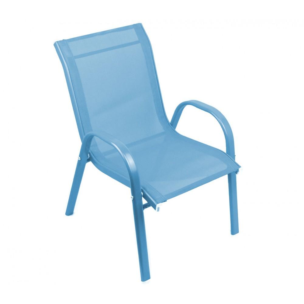 Sedia Bambini Blu TEXALINE 543041 in Tela traspirante struttura in acciaio