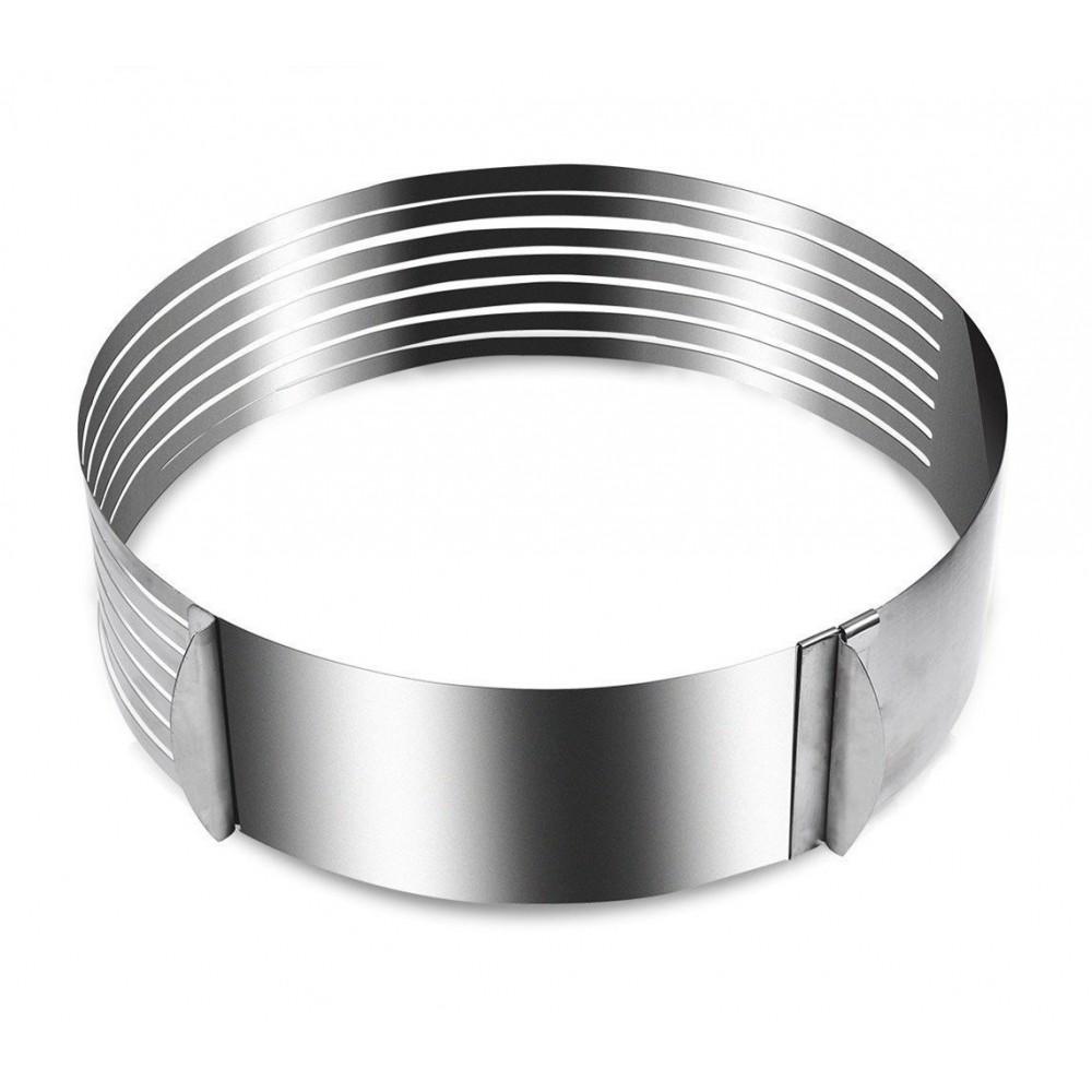 Anello taglia torte MAITRE CHEF 980771 in acciaio con 6 scanalature da 24 a 30cm
