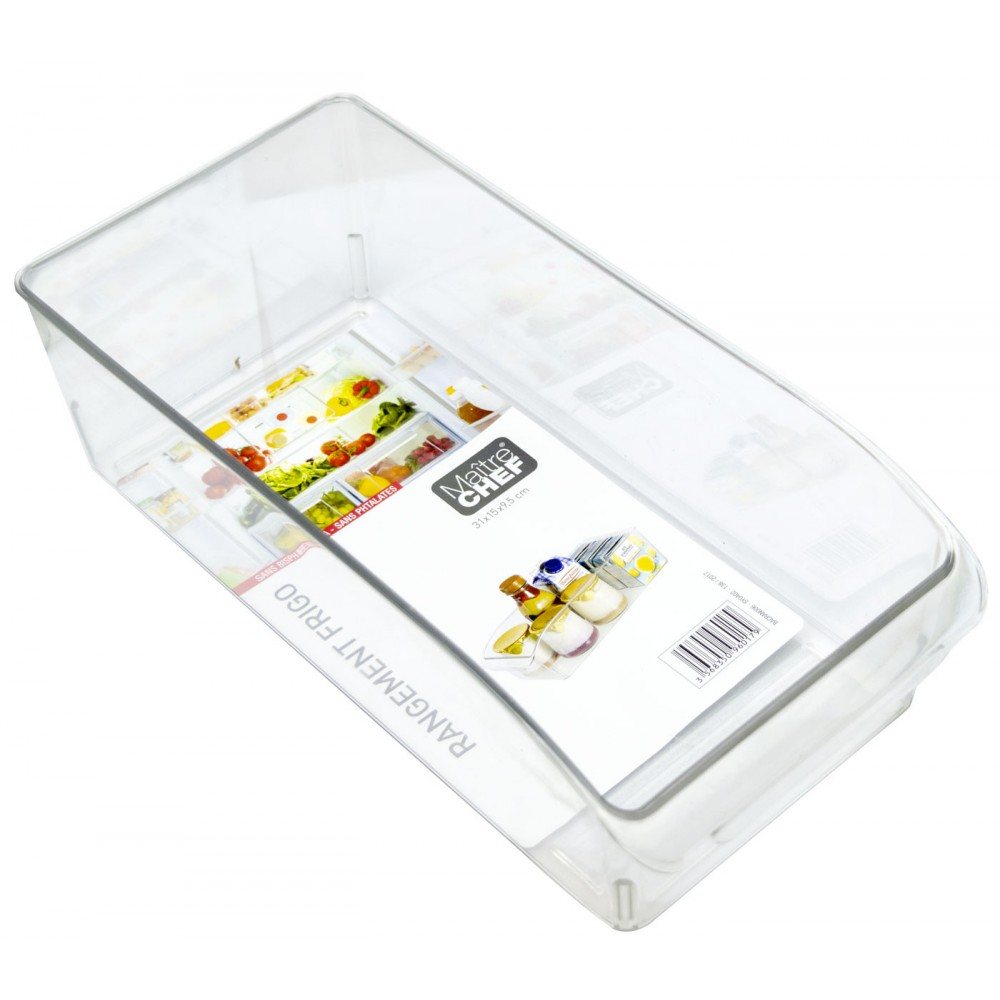MAITRE CHEF 960179 Cassetto da frigo 31X15X10CM PE Rigida atossica trasparente