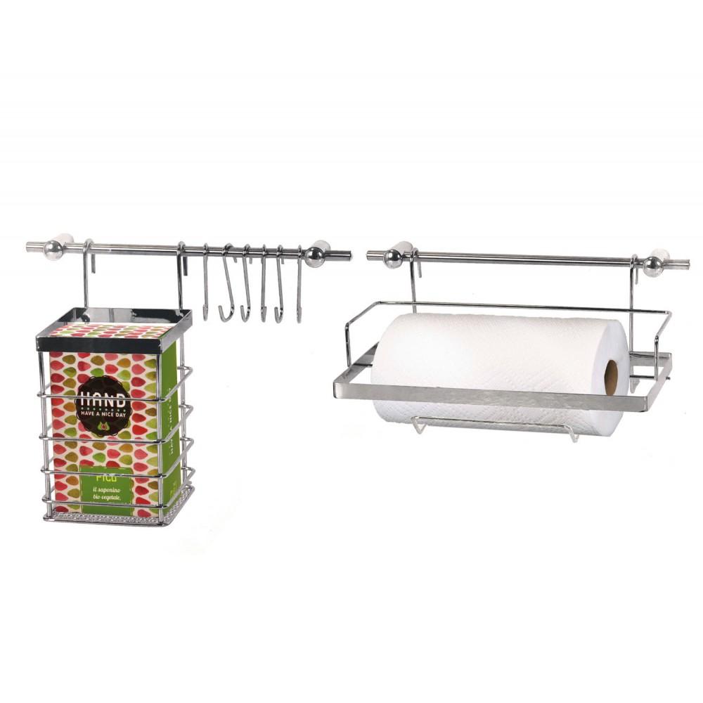 Maitre Chef 980610 Set di Appendi utensili da cucina 12 pezzi 2 barre