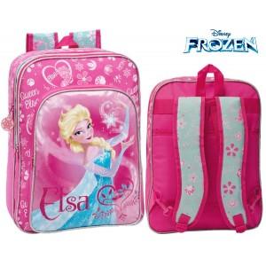 Image of 4252351 Zaino a spalla scuola Elsa ( Frozen ) Disney 30 x 40 x 16 cm 8030000300697