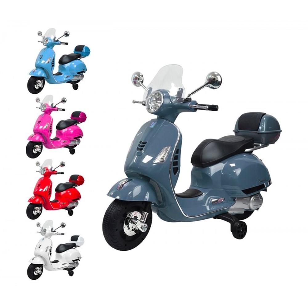 Moto elettrica PIAGGIO per bambini VESPA GTS B70592T con rotelle 12V e Bauletto