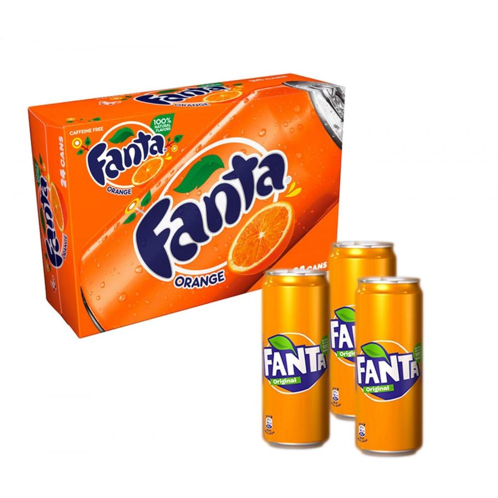 FANTA confezione risparmio 24 lattine da 33 cl soda soft drink no caffeina