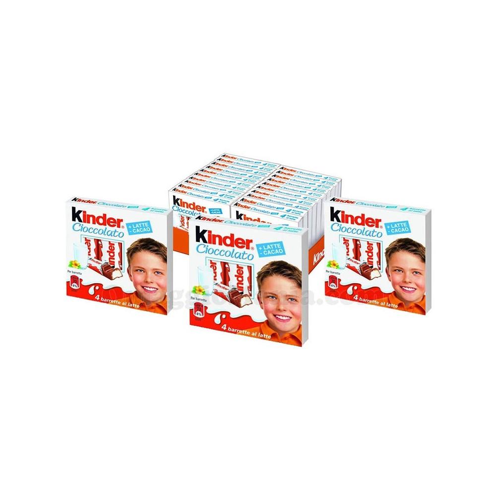 Ferrero Kinder barrette T4 pack risparmio da 20 pz x 50g (4 barrette) cioccolato