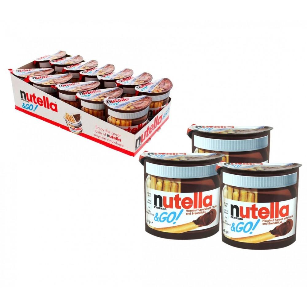 Ferrero Nutella & GO snack confezione risparmio 12pz 48g crema nocciola grissini