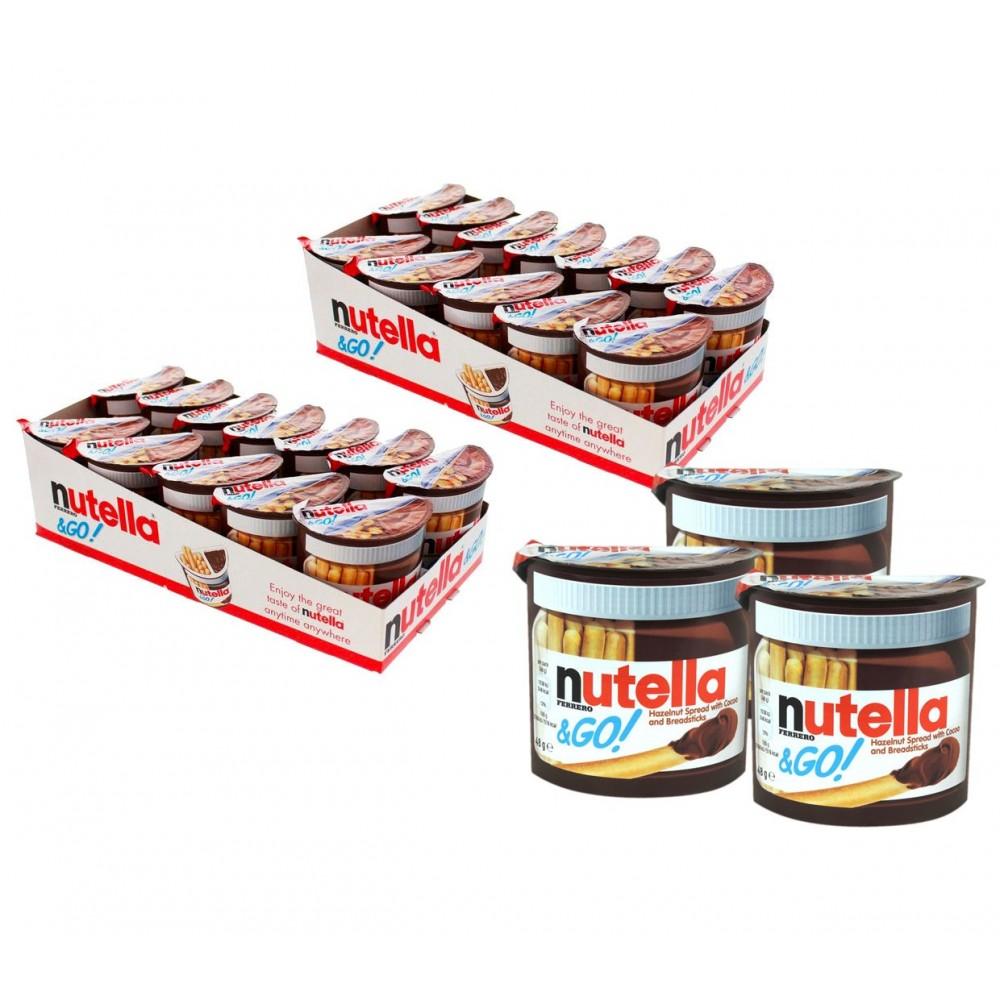 Ferrero Nutella & GO snack confezione risparmio 6 pz 48g crema nocciola grissini