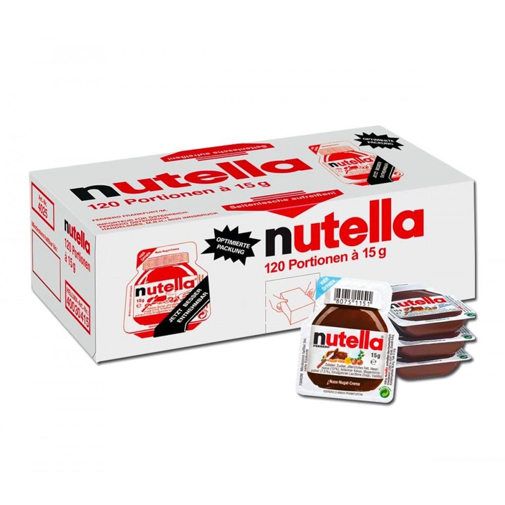 Ferrero Nutella confezione risparmio 120 vaschette da 15g crema spalmabile