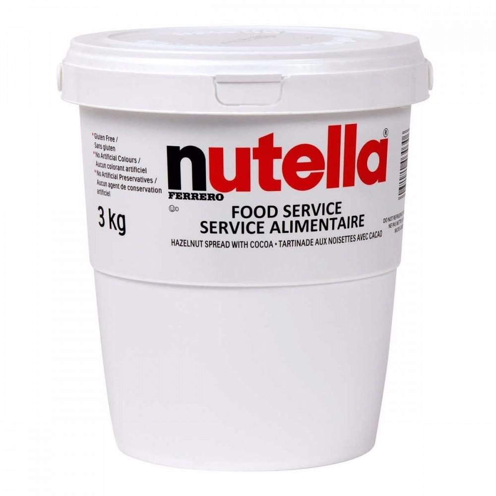 Ferrero Nutella confezione risparmio secchio maxi di 3Kg crema spalmabile