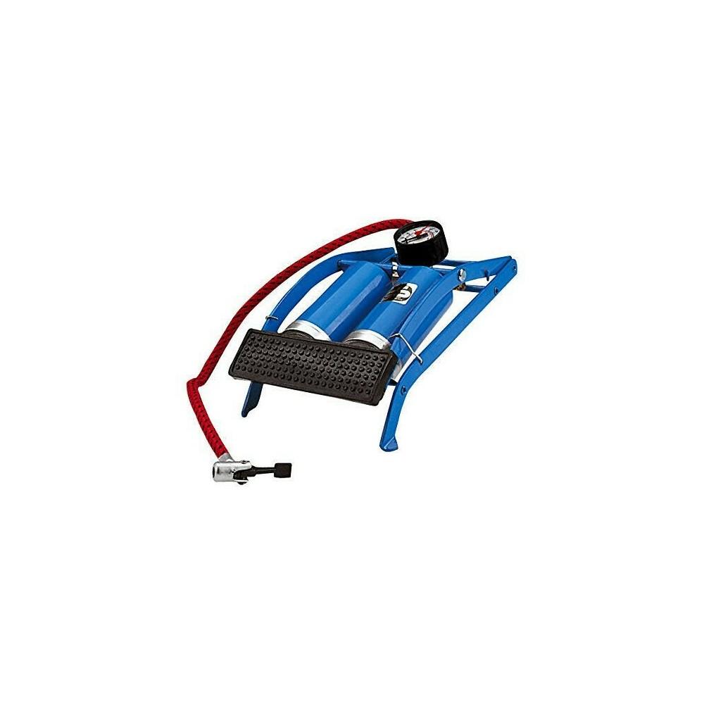 Pompa a pedale OXFORD 472235 gonfiatore 2 pistoni per moto auto bici e palloni
