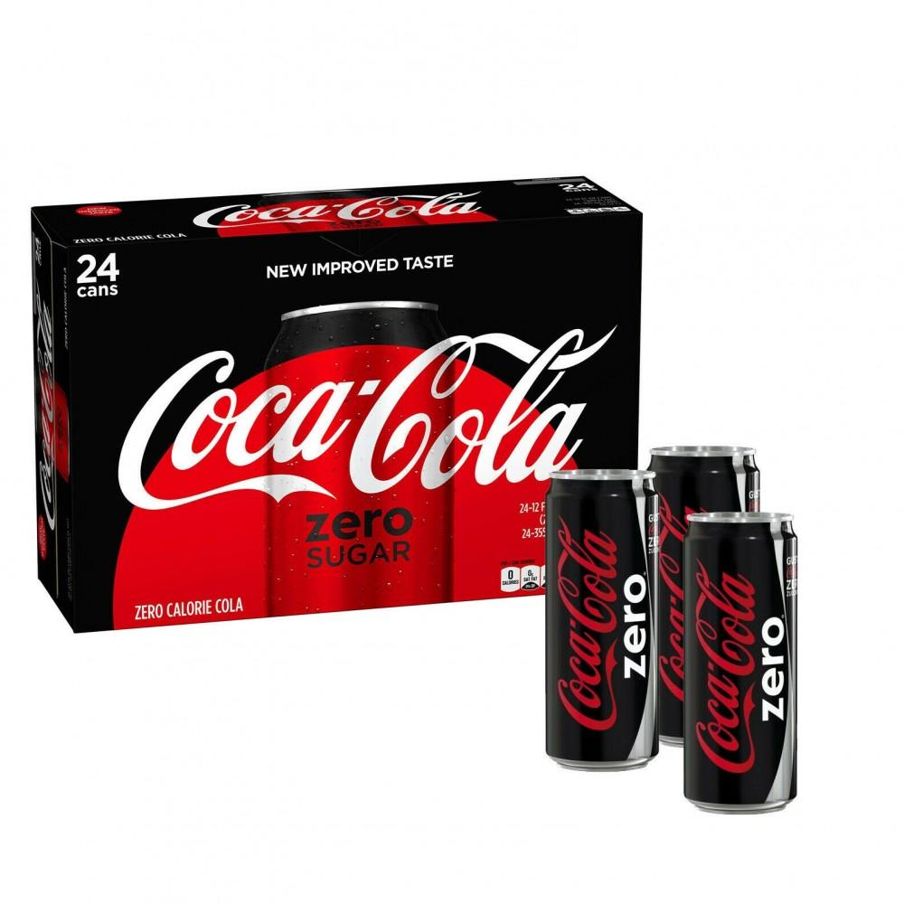 COCA COLA ZERO confezione risparmio 24 lattine da 33 cl senza calorie analcolica
