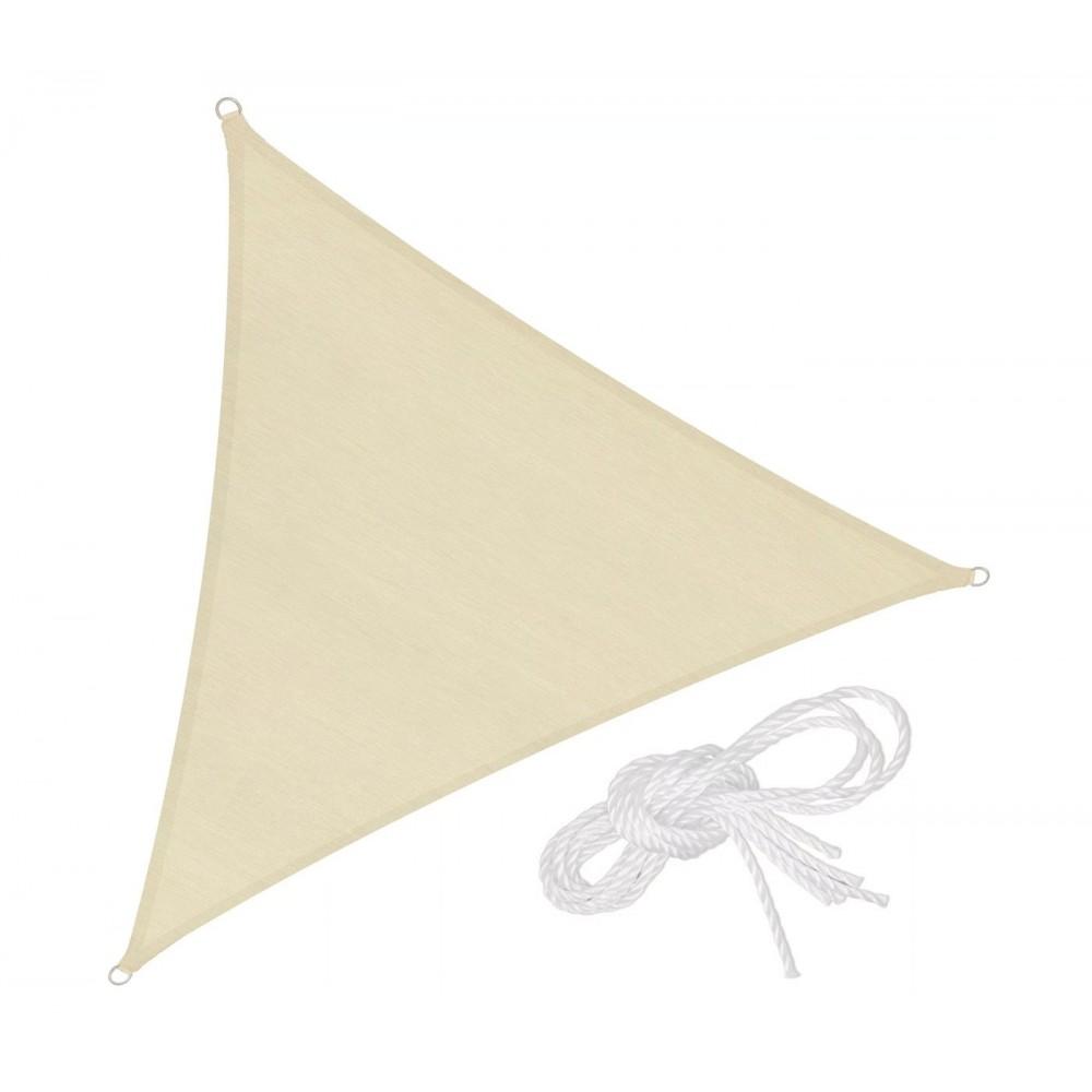 Telo triangolare Ombreggiante 482346 Beige 3x3x3 mt tenda a vela con corda