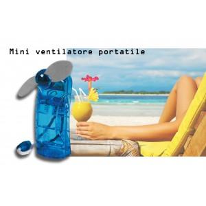 Mini ventilatore portatile a batterie a 2 pale soft comodo e tascabile da borsa