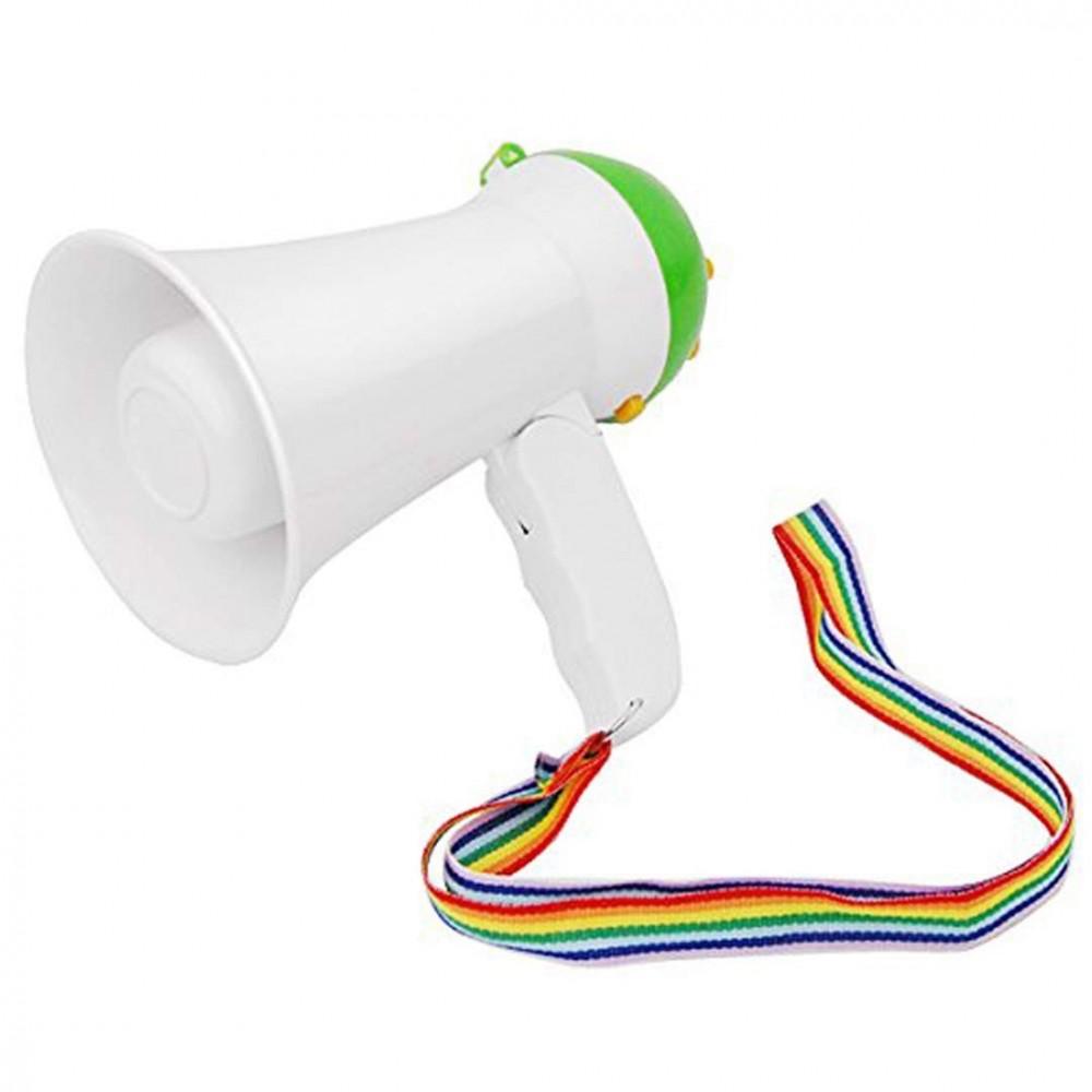 Megafono Portatile HQ-08 in PVC musiche integrate laccetto e manico pieghevole
