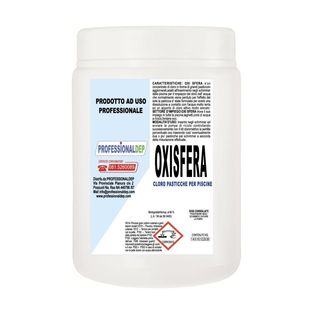 OXISFERA PROFESSIONAL DEP Cloro Stab Pasticche 1Kg biodegradabile al 90%