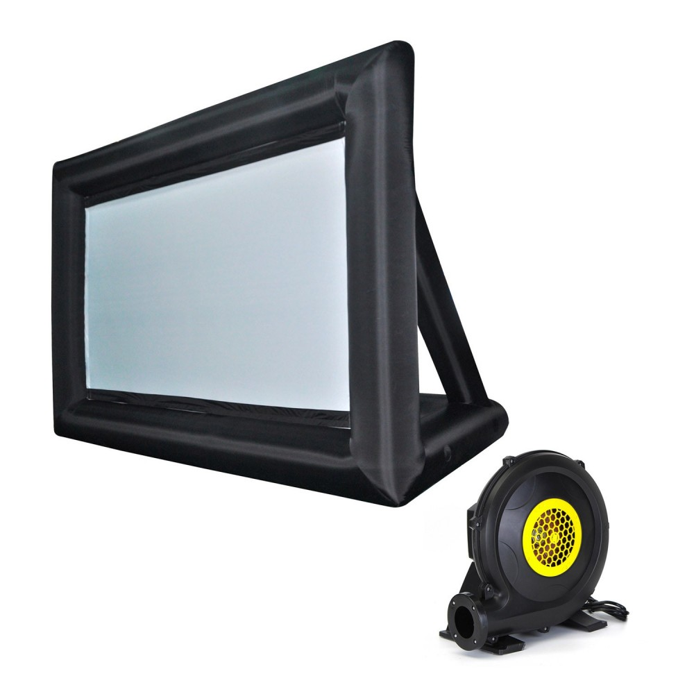 FUBUCA Schermo Gonfiabile proiettori interno ed esterno 320x250cm motore 350w
