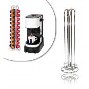Stand per capsule caffè dispenser portacapsule in metallo 40 posti a 4 colonne design moderno