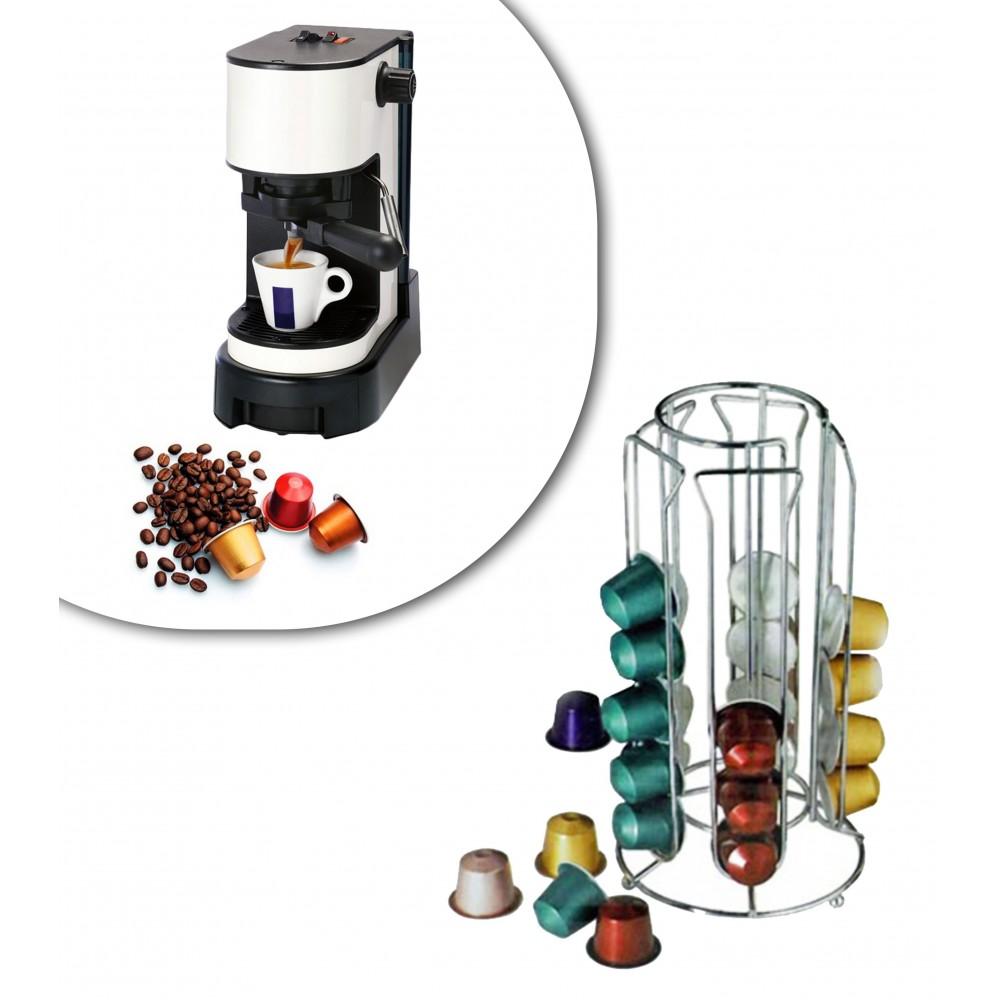 Stand per capsule caffè 30 posti portacapsule in metallo 4 colonne design moderno 726104