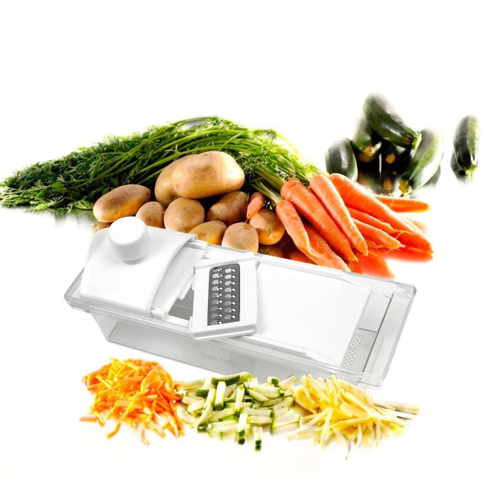 592012 Tagliaverdure GUSTO CASA 5 funzioni grattugia affetta frutta e verdura