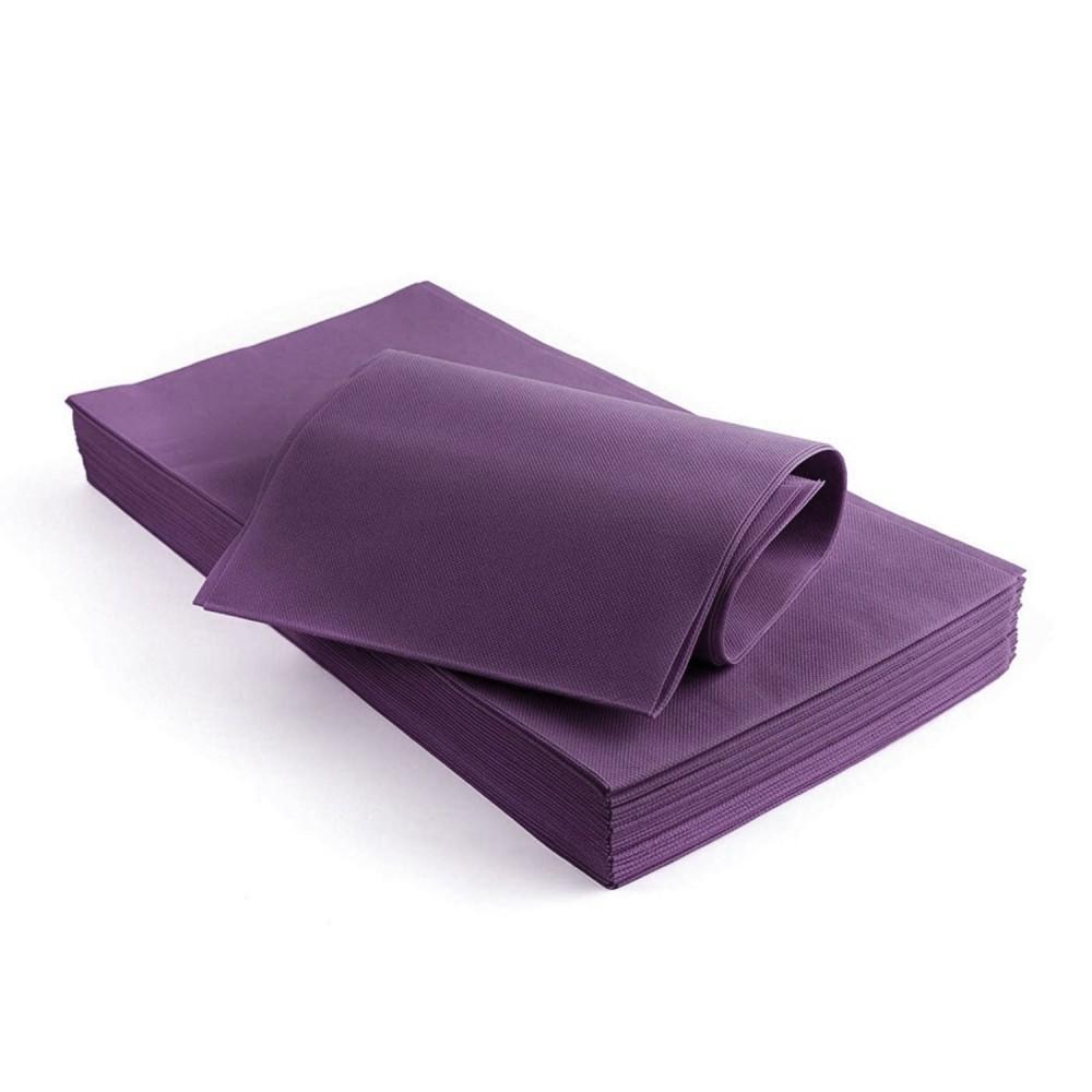Tovaglia tavola in TNT rettangolare 100x100 cm 10 fogli EFFEPPI viola monouso
